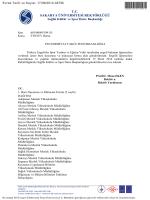 TESYEV Bursu - Fizik Bölümü