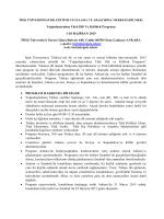 Yoğunlaştırılmış Türk Dili Ve Kültürü Programı 1