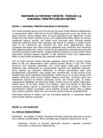Türkçe - Marmaris Altınyunus Turistik Tesisler A.Ş.