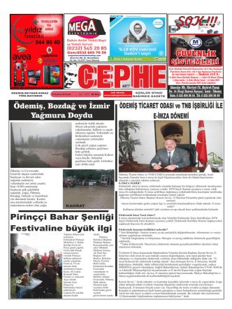 10.06.2014 Tarihli Cephe Gazetesi