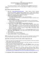 FBE 2014-2015 Öğretim Yılı Bahar Dönemi Tezli Yüksek Lisans ve