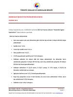 2014 Yılı Haziran Ayı Hanehalkı İşgücü İstatistikleri