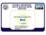 Prof.Dr. Ali ARSLAN, Yrd. Doç. Dr. Abdurrahman BOZKURT Atatürk