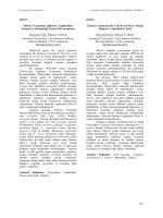 (Diptera: Tephritidae)Faunası ve Sistematiği Üzerine Bir Araştırma