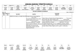 7 mayıs 2014 tarihinde yapılan yönetim kurulu