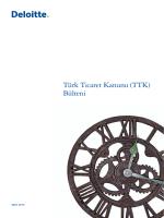 Türk Ticaret Kanunu (TTK) Bülteni