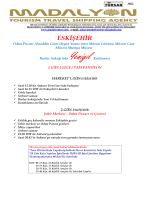 ESKİŞEHİR Trenle Tur Programı ve Ücret