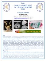 makina fakültesi 70. yıl seminerleri 2014