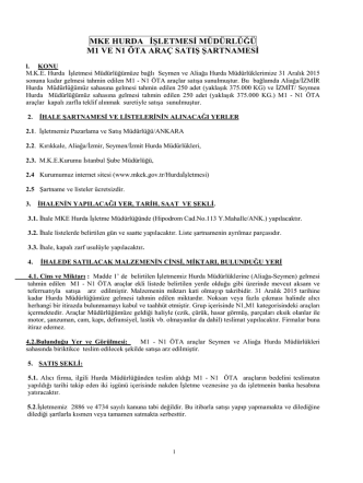 30.01.2015 M1,N1 ŞARTNAME - Makina ve Kimya Endüstrisi Kurumu