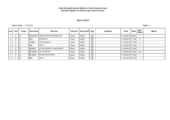 1 09:20 11.02.2015 YAZILI 3.Grup L3 S 1 2 MAT 11:00 11.02.2015