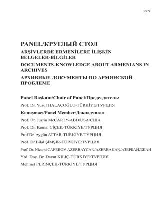 bilgiler-documents-knowledge about armenıans ın archıves