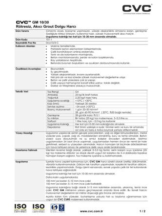 CVC™ GM 10/30 Rötresiz, Akıcı Grout Dolgu Harcı