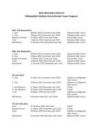 2014-2015 Bahar Dönemi Mühendislik Fakültesi Servis Dersleri