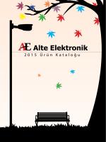 2015 Ürün Kataloğu