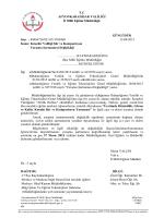 Müdürlüğümüzün konu ile ilgili 13/04/2014 tarih ve 3958460 sayılı