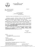 Müdürlüğümüzün konu ile ilgili 15/04/2015 tarih ve 4058045 sayılı