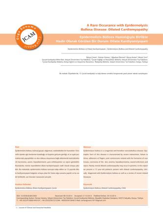 A Rare Occurance with Epidermolysis Bullosa Disease: Dilated