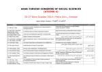 ARAB-TURKISH CONGRESS OF SOCIAL SCIENCES (ATCOSS-4