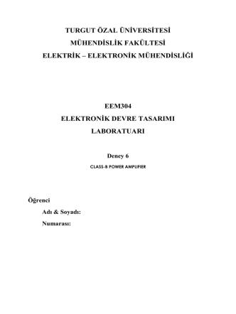 12-16 mayıs lab 6 föyü - Turgut Özal Üniversitesi