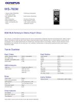 WS-760M, Olympus, Audio Recording