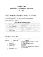 Stratejik Plan - Milli Eğitim Bakanlığı