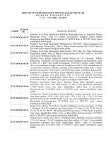 kasım 2014 ayı meclis karar özetleri