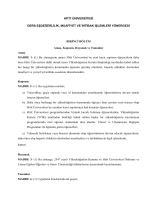 Hitit Üniversitesi Ders Eşdeğerlilik, Muafiyet Ve İntibak İşlemleri