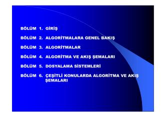 Algoritmalar ve Pascal
