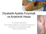 Diyabetik Ayakta Anatomik ve Fizyolojik Hasar
