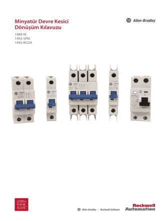 1489-QR001A-TR-P, Minyatür Devre Kesici Dönüşüm Kılavuzu