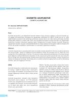 KOZMETİK AKUPUNKTUR - Ankara Akupunktur Derneği