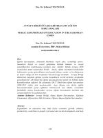 avrupa birliği ülkelerinde kamu eğitim harcamaları