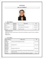 CV - Türkçe Öğretimi Uygulama ve Araştırma Merkezi