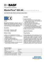 MasterFlow® 920 AN (Eski Adı MASTERFLOW® 920 SF