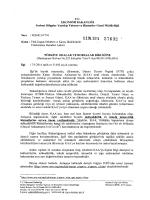 Ekonomi Bakanlığının Yazısı