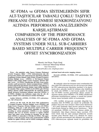 comparıson of the performance analyses of sc