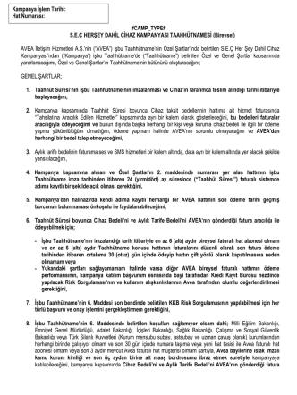 #CAMP_TYPE# S.E.Ç HERŞEY DAHİL CİHAZ KAMPANYASI