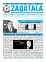 Загатала - Zaqatala Qezeti