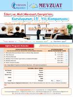 İdari ve Mali Mevzuat Dergisi Eğitim Programı