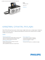 Product Leaflet: Dock + BT M1X-DJ ses sistemi