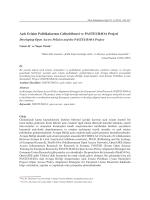 Açık Erişim Politikalarının Geliştirilmesi ve PASTEUR4OA Projesi
