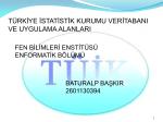 Baturalp Başkır - İstanbul Üniversitesi | Enformatik Bölümü