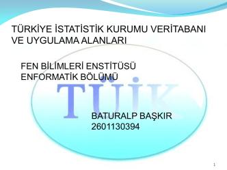 Baturalp Başkır - İstanbul Üniversitesi   Enformatik Bölümü
