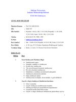 END306 Simülasyon - Maltepe Üniversitesi