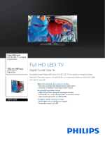 40PFK4309/12 Philips Full HD LED TV ve Digital Crystal