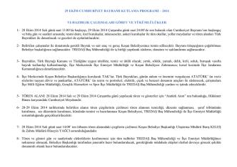 29 Ekim Cumhuriyet Bayramı 91.Yıl Kutlama Tören ve Gösteri