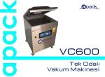 vc600 tek odalı vakum makinesi