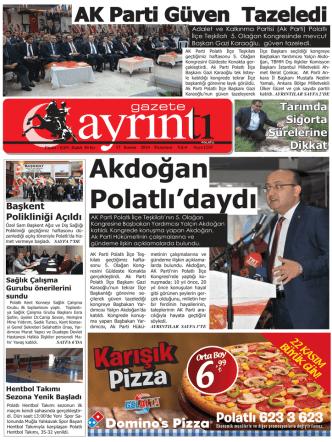 17 Kasım 2014 Pazartesi - Polatlı Gazete Ayrıntı