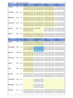 Schedule - Week 21 -