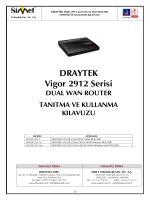 DRAYTEK Vigor 2912 Serisi